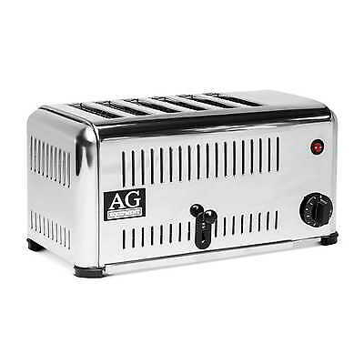 Brand New Top Quality Commercial 6 Slot Toaster With Timer 15 AMP Plug