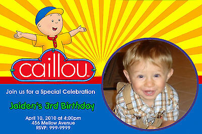 Custom Personalized Caillou  24hr Service UPRINT 4x6 or 5x7