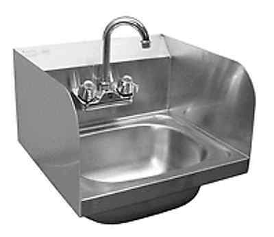 "Wall Mount Hand Sink w/ Splash Guards S/S 20""x17"" *No Lead* Faucet"