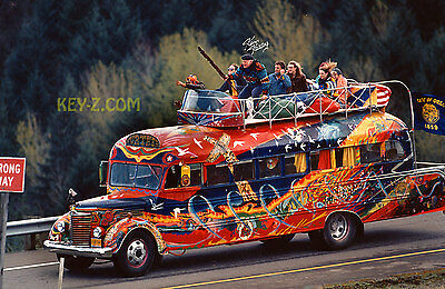 Ken Kesey riding on top of FURTHUR Bus Merry Pranksters Poster