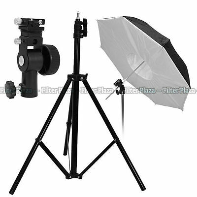 Pro Studio Light Stand +Flash Speedlite Bracket + Umbrella Reflector Softbox Kit