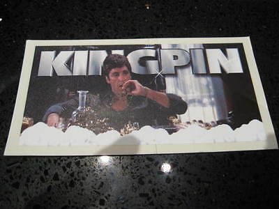 KINGPIN Hard to find HIGH QUALITY SCARFACE TONY MONTANA STICKER DECAL UNIQUE