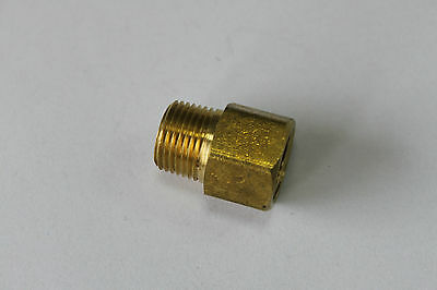"""5 X New Brass Pipe 1/2"""" Female x 3/8"""" Male NPT Adapter Fuel Gas Air"""
