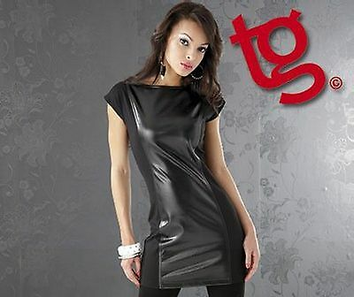 NEW Ladies Faux Leather Space Dress in Sizes 8 & 10 Womens Dance Clubwear Party