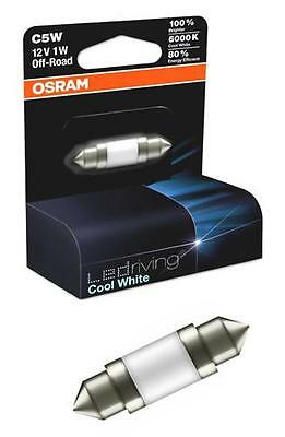 Osram C5W 12v 239 LED Cool White Bulb 6000k Boot Number Plate Interior Light Car