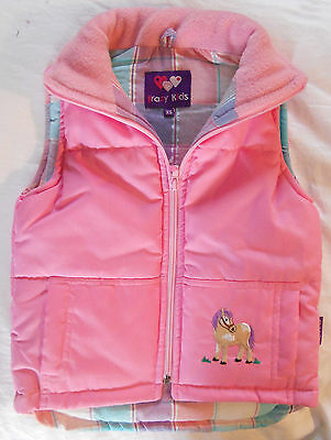 Girl's Embroidered Pony Gilet - Front & Back Designs - Five Different Colours