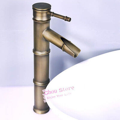 Bathroom Faucet Vessel Sink Faucet Mixer Tap Antique Brass Bamboo Style A14-A