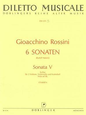 Rossini: Sonate No.5 Str Quartet Parts DOB137002