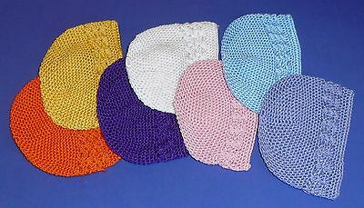 Newborn Baby Beanie - Hat - Hand Crochet - Super Soft Cotton - 4 Colours - NEW