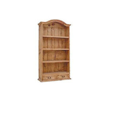Large Bookcase With Two Drawers Real Wood Free Shipping
