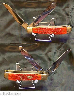 Case 6207SS Strawberry Trapper USA 3.5 Inches Red Jigged Bone Handles W/Package