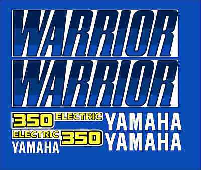 Warrior 350 Stock Style Full Graphic Kit Decals Stickers 87-04 Blue ATV QUAD