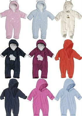 Playshoes Baby Wagenanzug Overall Flecce Babyanzug Thermooverall Gr. 56 bis 80
