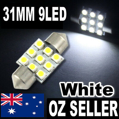 31mm Car Dome SMD 9 LED Interior Festoon Bulb SUPER BRIGHT WHITE 12V  BA BF VE