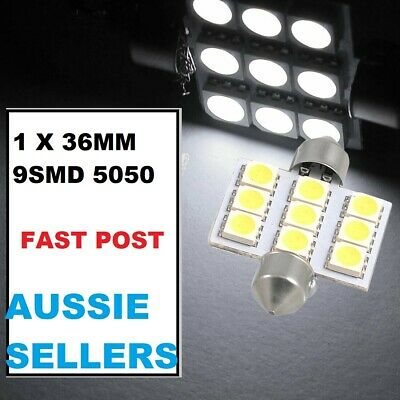 1 X 36MM Car Dome SMD 9 LED Interior Festoon Bulb BRIGHT WHITE ...