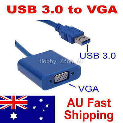 USB 3.0 to VGA Cable Video Display Card Graphic External Adapter for Win 7 8 10