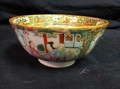 19Th C Chinese Rose Medallion Bowl