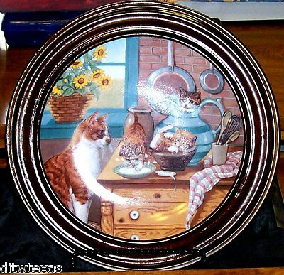"Hamilton Collection ""Table Manners"" Limited Edition Plate 2576A Vintage Decor"