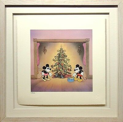S/O Mickey's Orphans Disney Serigraph Art Print Framed Mickey Mouse Christmas