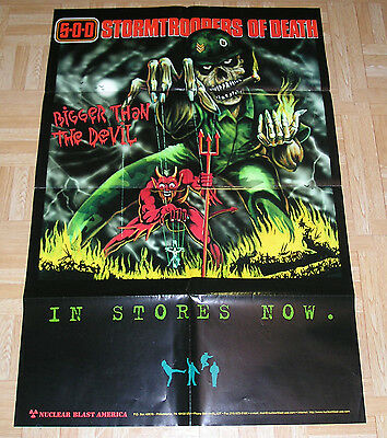 Storm Troopers of Death Bigger Then the Devil Iron Maiden Parody Poster 24 x 36