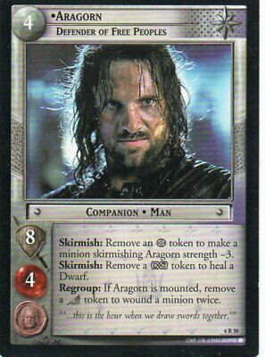 Lord of the Rings CCG - EOF - Aragorn Defender of Free Peoples #50 Rare