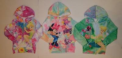 TINKERBELL MINNIE MOUSE Hoodie Sweatshirt Shirt Size 5 6 Disney Soft Plush *NEW*