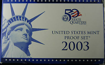 2003 S United States Mint Proof Coin Set