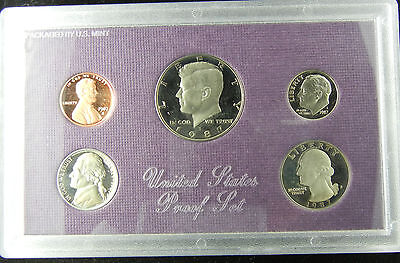 1987 S United States Mint Proof Coin Set