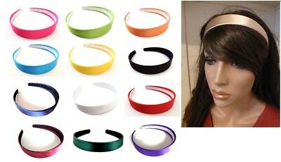 Wide Satin Headband Hair Band Alice Band Width 2.5 cms and Padded and Gingham
