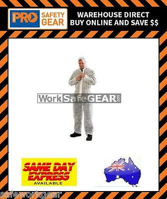 Pack of 10 Disposable PP Durable Coverall (White) ProChoice Body Protection