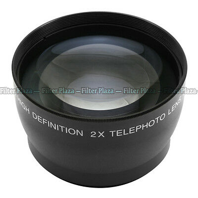 55mm 2.0X Magnification Telephoto Tele Converter Lens for Digital Camera 2X 55