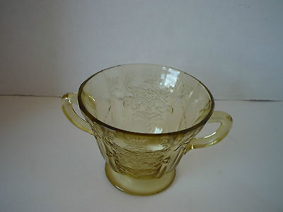 Madrid Amber  Depression glass Sugar Bowl