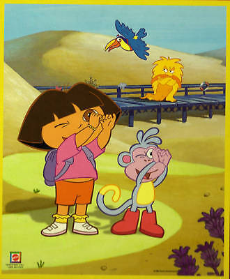 New Dora The Explorer In-Lay Woodboard 8 Piece Puzzle