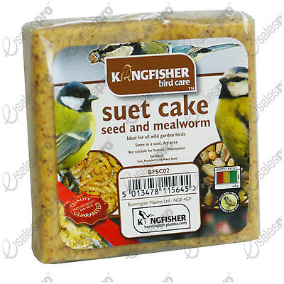 Suet cake wild bird food feed feeder MEALWORM seed 1 or 2 savings FREE P+P