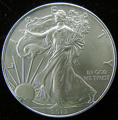 2012 1 Oz .999 Fine Silver Liberty Walking American Silver Eagle Dollar Coin Unc