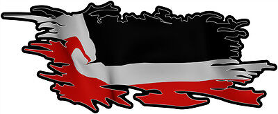 MAORI RIPPED FLAG Size apr. 300mm by 122mm GLOSS LAMINATED DOES NOT FADE
