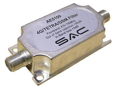 SAC 4G TETRA GSM LTE TV Aerial Filter. Remove aerial inteference! FREE POSTAGE!