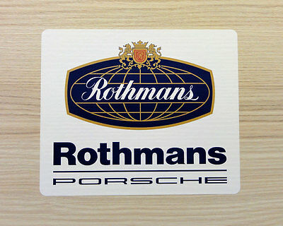 Rothmans Racing Globe style laminated Motorsport sticker 150 x 125 mm