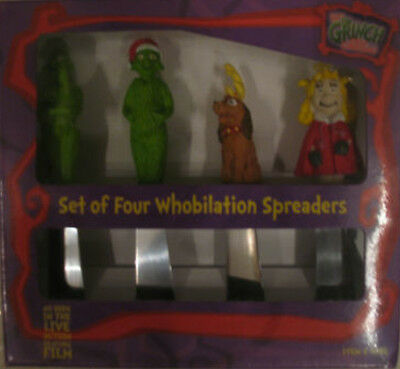 ***RARE*** DR SEUSS THE GRINCH Whobilation Set of 4 Spreaders