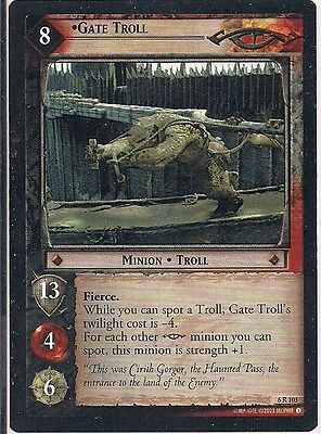 Lord of the Rings CCG - EOF - Gate Troll #103 Rare