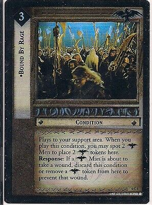 Lord of the Rings CCG - EOF - Bound By Rage #1 Foil
