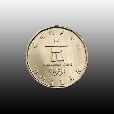 Canada 2010 Olympic Lucky Loonie, Mint Unc.
