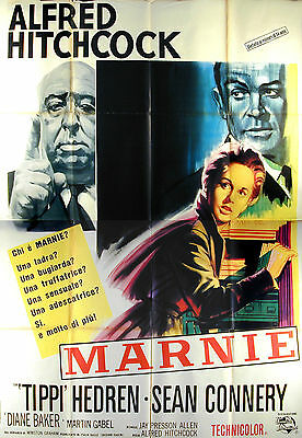 Marnie -Alfred Hitchcock/tippi Hedren- Original Italian Four Sheet Movie Poster