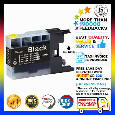 10 Ink Cartridge LC 73 LC 77 Black Only for Brother DCP J725DW MFC J430W Printer