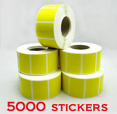 - New - 5000 x Retailer YELLOW Stickers Price Labels - Self Adhensive