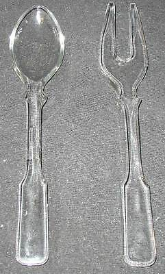 Great Heisey no. 2 Salad Fork and Spoon set: very hard to find.