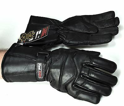 New Genuine Leather Gauntlet Motorcycle  Driving  Gloves With Free Shipping