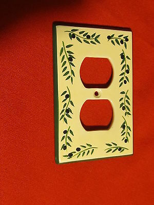Porcelain Coordinating Wall Plates Firenze Olives ~ Light Switch Outlet Plate