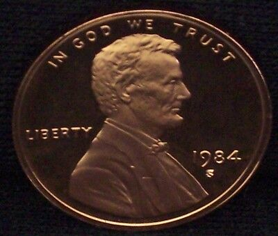 1984-S Proof Lincoln Memorial Penny - Deep Cameo!