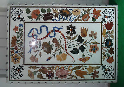 Indian Marble Table top Pietra Dura Plaque/Mosaic Center table Asia Post-1950